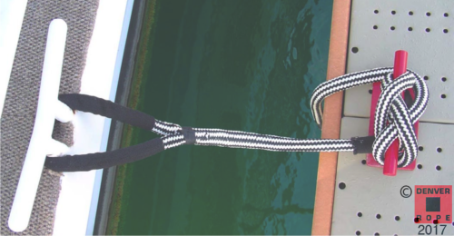 colored double braid nylon dock line house boat